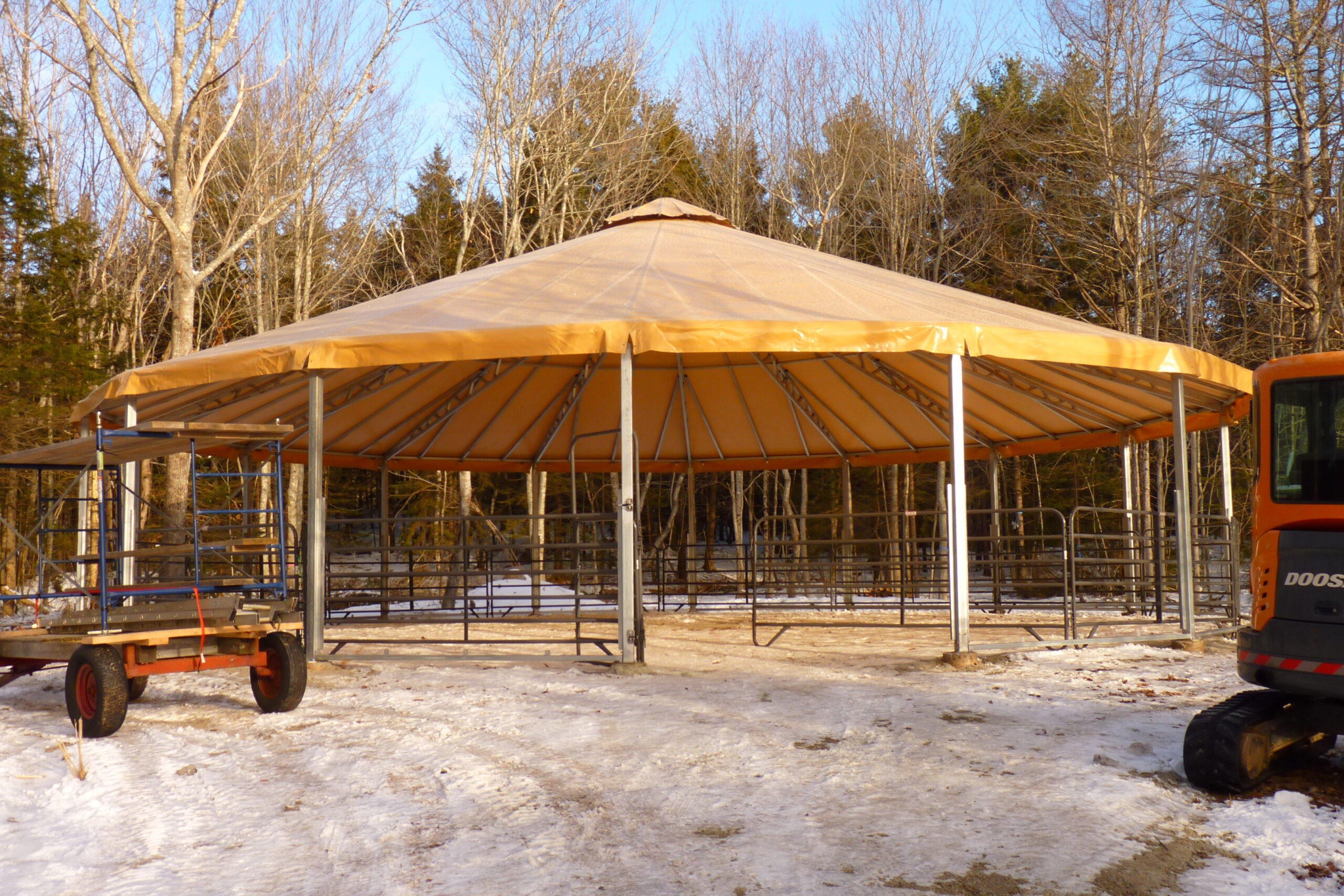 New Riding Ring Roof